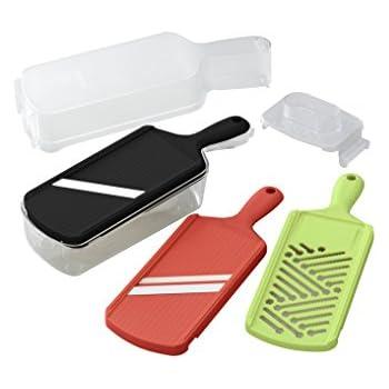 Kyocera Advanced Ceramic Slicer Set With Adjustable Mandoline, Julienne  Slicer, And Grater
