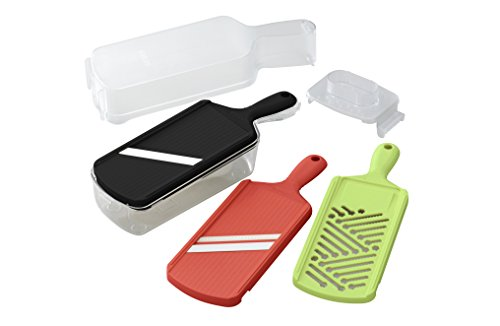 Kyocera Advanced Ceramic Slicer Set with Adjustable Mandoline, Julienne Slicer, and Grater