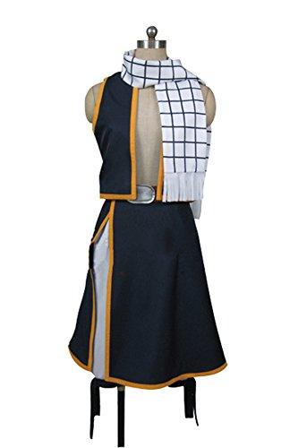 [Ya-cos Halloween Natsu Dragneel Cosplay Costume Outfit Suit Scarf Full Set] (Natsu Dragneel Costume)