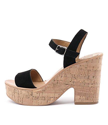 DOLCE VITA Randi Tan Womens Shoes High Heels Sandals Black Suede