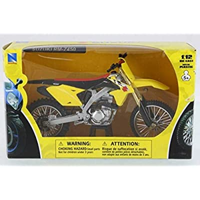 NewRay 1/12 Suzuki RM-Z450 2014 Suzuki Motocross / Off-Road Bike: Toys & Games