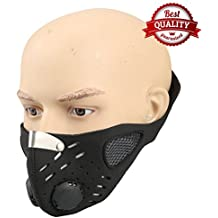 Half Face Mask Black | Comfortable, Washable Soft Cotton | Anti Dust, Fumes, Smoke, Pollen; Respirator that Prevents Allergy and Asthma| Perfect for ATV, Bike, Cycling, Costume, Paintball, Halloween