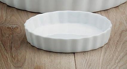 WM Bartleet y Sons porcelana blanca molde de silicona antiadherente 23 cm