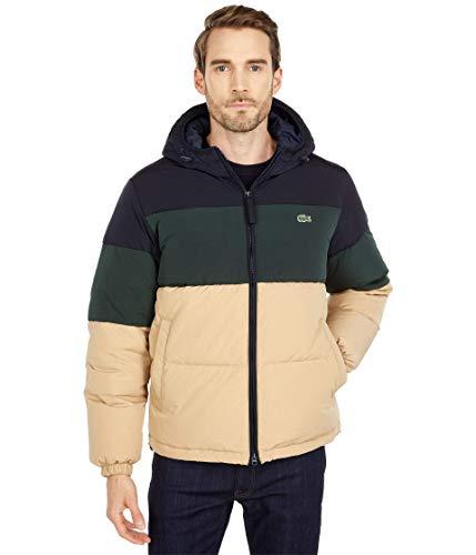 Lacoste Long Sleeve Solid Taffeta Puffer Jacket