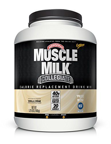 Muscle Milk Collegiate Protein Powder, Vanilla 'N Crème, 20g Protein, 5.29 Pound - Cytosport Muscle Milk Powder Vanilla Creme