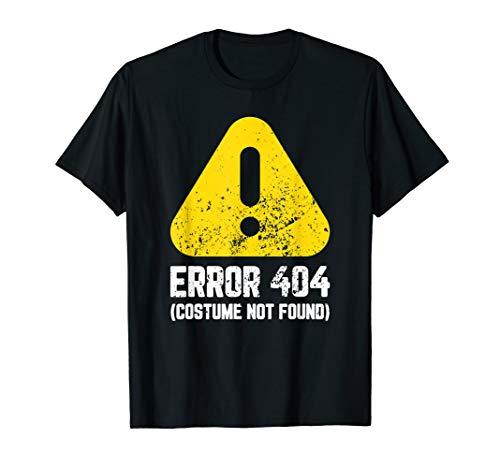 Error 404: Costume Not Found Funny Halloween T-Shirt Kids ()