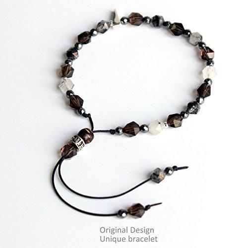 - TALE Tibetan Buddhist White Copper Six True Words Charm Lucky Gemstone Bracelet