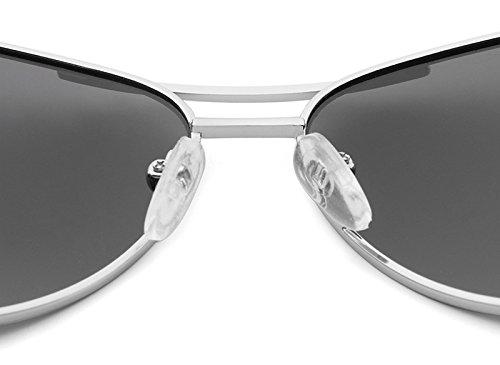 de UV400 Sol green de de Costume Nuevas Clásico polarizadas Designer Silver Metal Pilot de conducción Gold Gafas Gafas Jusheng Men Gafas de Blue Sol Color protección tvq4wwR
