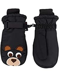 Toppers Kids Boys Thinsulate Lined Gloves Waterproof Cat Patterned Ski Mitten S