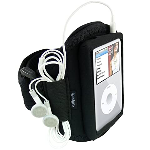 iGadgitz Water Resistant Neoprene Sports Gym Jogging Armband for Apple iPod Classic 80gb, 120gb & (Ipod Classic Cover)