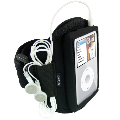 igadgitz Water Resistant Neoprene Sports Gym Jogging Armband Compatible with Apple iPod Classic 80gb, 120gb & 160gb