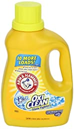 Arm & Hammer 84555 Liquid Laundry Detergent Plus OxiClean HE 35-Loads (Case of 6)