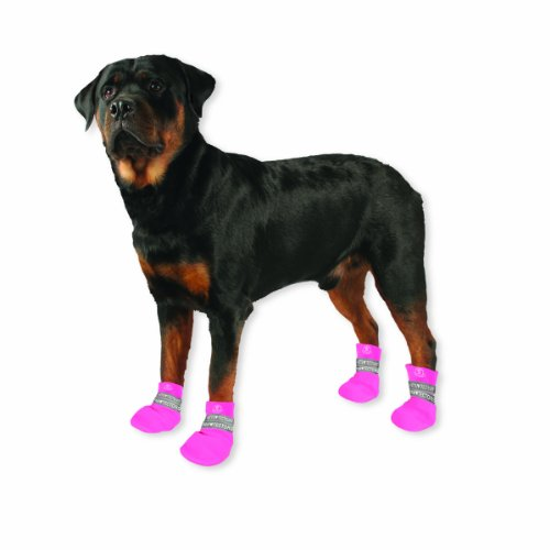 Paw Tectors by Pedigree Perfection International Inc. Water Proof Boot, Large, Pink, My Pet Supplies