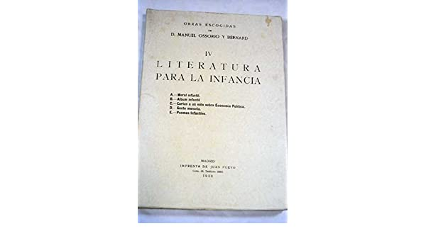 Literatura de Costumbres: Manuel Ossorio y Bernard: Amazon ...
