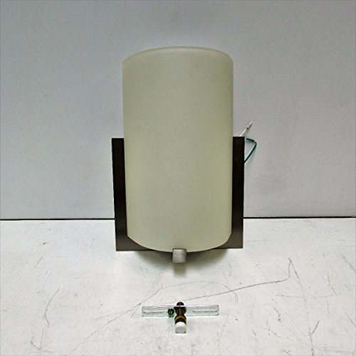Forecast Lighting F5412-36 Bow One-Light ADA Wall Sconce with Etched Glass, Satin Nickel (Forecast Lighting 1 Light)