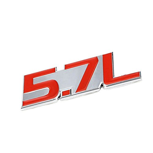 UrMarketOutlet 5.7L Red/Chrome Aluminum Alloy Auto Trunk Door Fender Bumper Badge Decal Emblem Adhesive Tape Sticker (06 Scion Tc Emblem)