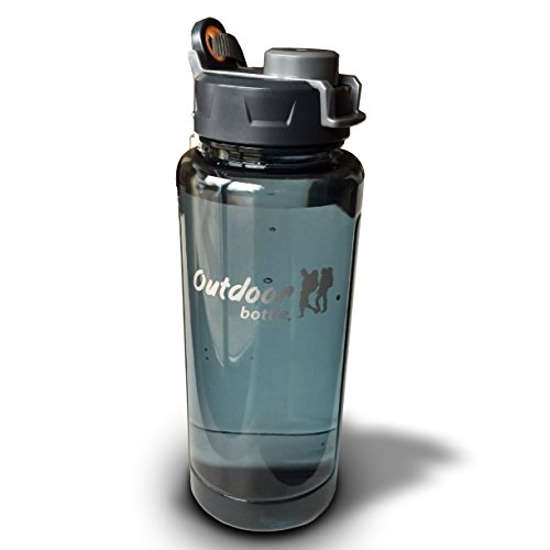 Outdoor Water Bottle 32 Ounce - Leakproof - Sturdy - Lightweight - Unbreakable - Easy to Carry - Great for Hiking - Camping - Traveling