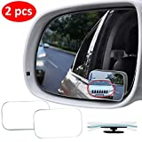Blind Spot Mirror for Cars LIBERRWAY Blind Side Mirrors HD Glass Side Mirror Blind Spot Frameless Convex Rear View Mirror for Car, SUV Stick on Design