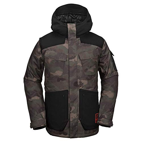 Volcom Men's VCO Inferno 2 Layer Stretch Snow Jacket, Camouflage, Large