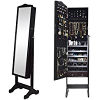 Full Length Jewelry Cabinet With Mirror 132 X 48 X 17 Cm