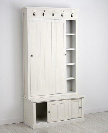 Cuore Bello: Mueble perchero Cádiz, 100*45*195: Amazon.es: Hogar