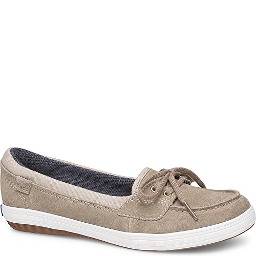 Keds Women's Glimmer Suede Sneaker, Taupe, 10 M US