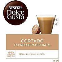 NESCAFÉ Dolce Gusto | Capsulas de Café Cortado Espresso Macchiato | Pack de 3 x 16 Cápsulas - Total: 48 Cápsulas