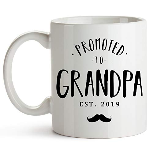 Only The Best Dads Get Promoted To Grandpa Mug 11 Ounce You're Going To Be A Grandpa Pregnancy Announcement For Grandparents Baby Announcement Gifts Grandparents