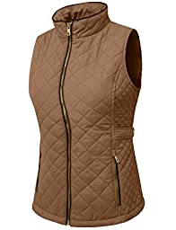 NE PEOPLE Womens Lightweight Quilted Zip Vest