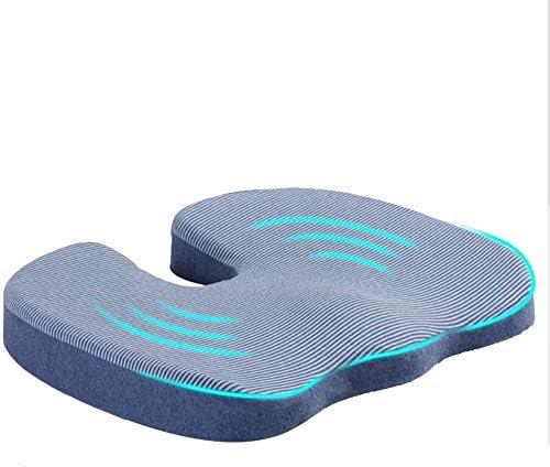 柔らかく快適 妊娠中の女性のための低反発シートクッション、オフィスクッション術後痔クッション産後クッションは、坐骨神経痛の痛みを和らげるために (Color : Blue)