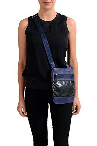 Versace Jeans Unisex Blue Logo Print Messenger Shoulder - Small Bag Versace