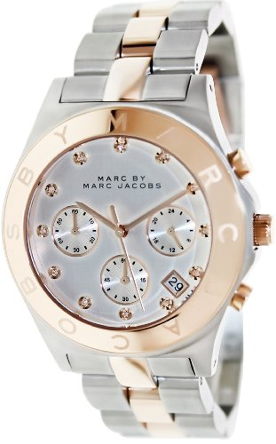 Marc by Marc Jacobs Chronograph Silver Dial Two-tone Ladies Watch (Two Tone Chronograph Silver Dial)