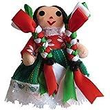 Small Handmade Traditional Mexican doll, Muñeca Mexicana hecha a mano