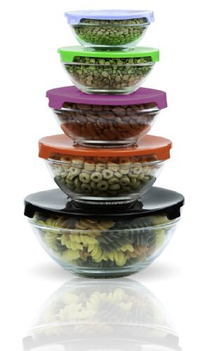 Amazoncom Imperial Home MW1640 Glass Mixing Bowls Glass Food