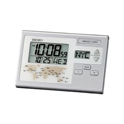 Seiko (QHL050 - Reloj despertador digital con hora mundial