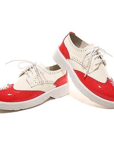us8 Rojo Cuña gyht eu39 us8 Negro de la Moda ZQ Tacón Zapatos uk6 Punta Cuero red Patentado Casual us5 uk6 Mocasines red red a Exterior Botas cn39 cn35 mujer 5 uk3 eu36 Cuñas eu39 Redonda 5 XdFqHwq