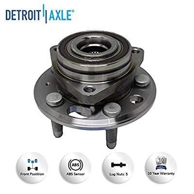 Detroit Axle - REAR Wheel Bearing Hubs and Brake Kit Rotors w/Ceramic Pads for 11-16 Buick Regal - [10-16 LaCrosse] - 10 Allure - [13-15 Malibu] - 13-16 Cadillac XTS: Automotive