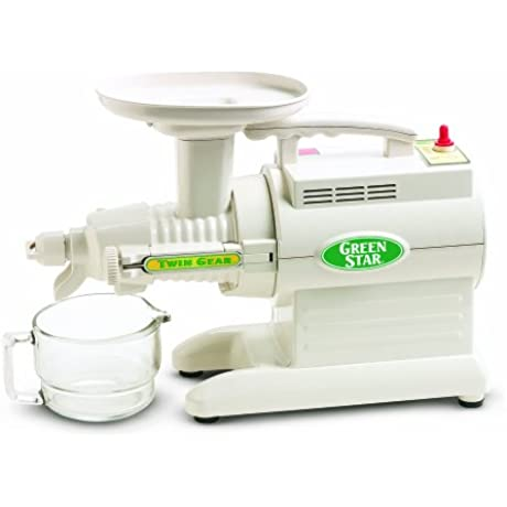 Tribest GS 1000 Greenstar Original Twin Gear Cold Press Maticating Juice Extractor White