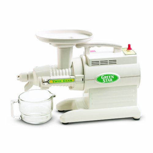 Tribest GS-1000 Greenstar Original Twin Gear Cold Press Maticating Juice Extractor, White (Green Star Twin Gear Juicer)