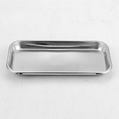 Dental Stainless Steel Medical Surgical Tray Dish Lab Instrument Tool 22.512cm