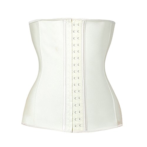 Lover-Beauty Cream Waist Training Body Shaper Latex Steel Boned Waist Trainer for Women XL ()