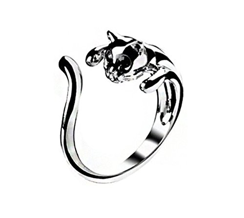 [Most Beloved Women's Fashion Style Lovely Cat Open Alloy Ring(Silver)] (Womens Material Pop Star Costumes)