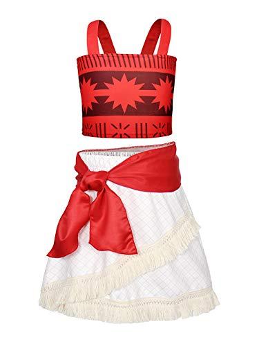 AmzBarley Moana Dress for Girls Cosplay Costume