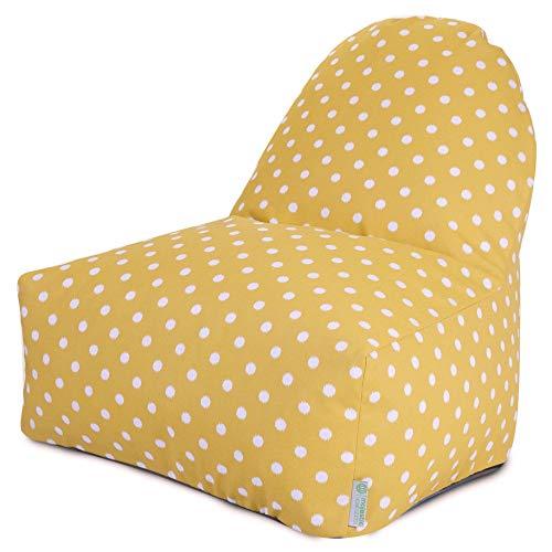 Majestic Home Goods Kick-It Chair, Ikat Dot, Citrus