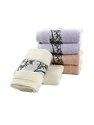 6-pieces Bamboo Towels Hand Towels for Bathroom Towels Sets 13