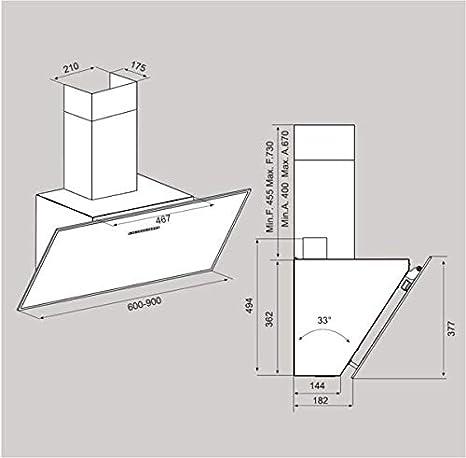 Airforce F203 - Campana de cocina (90 cm), color blanco: Amazon.es: Grandes electrodomésticos