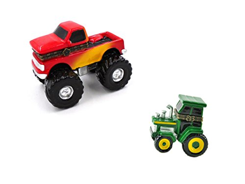 """""""Monster Truck"""" and""""Tractor"""" Porcelain Hinged Trinket Boxes (Set of 2)"""