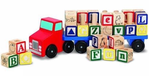 Wooden Alphabet Truck + FREE Melissa & Doug Scratch Art Mini-Pad Bundle [51750]