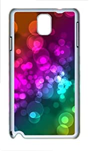 Light Bokeh Custom Samsung Galaxy Note 3/ Note III / N9000 - Polycarbonate - White