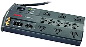 APC 11-Outlet Surge Protector 3020 Joules with Phone, Network Ethernet and Coaxial Protection, SurgeArrest Performance (P11VNT3)